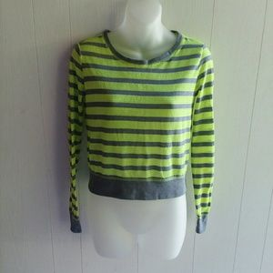 Live love dream long sleeve mesh top size XS